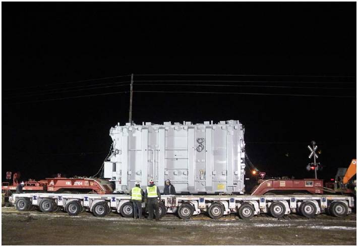 Transport & Rigging of Transformer to Brookston, IN